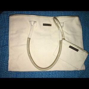 Ralph Lauren Canvas Tote with wristlet